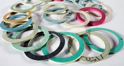 Washers in compressed fibre