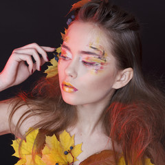 Make-up with autumn tones
