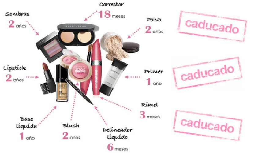 El maquillaje y los cosméticos también caducan