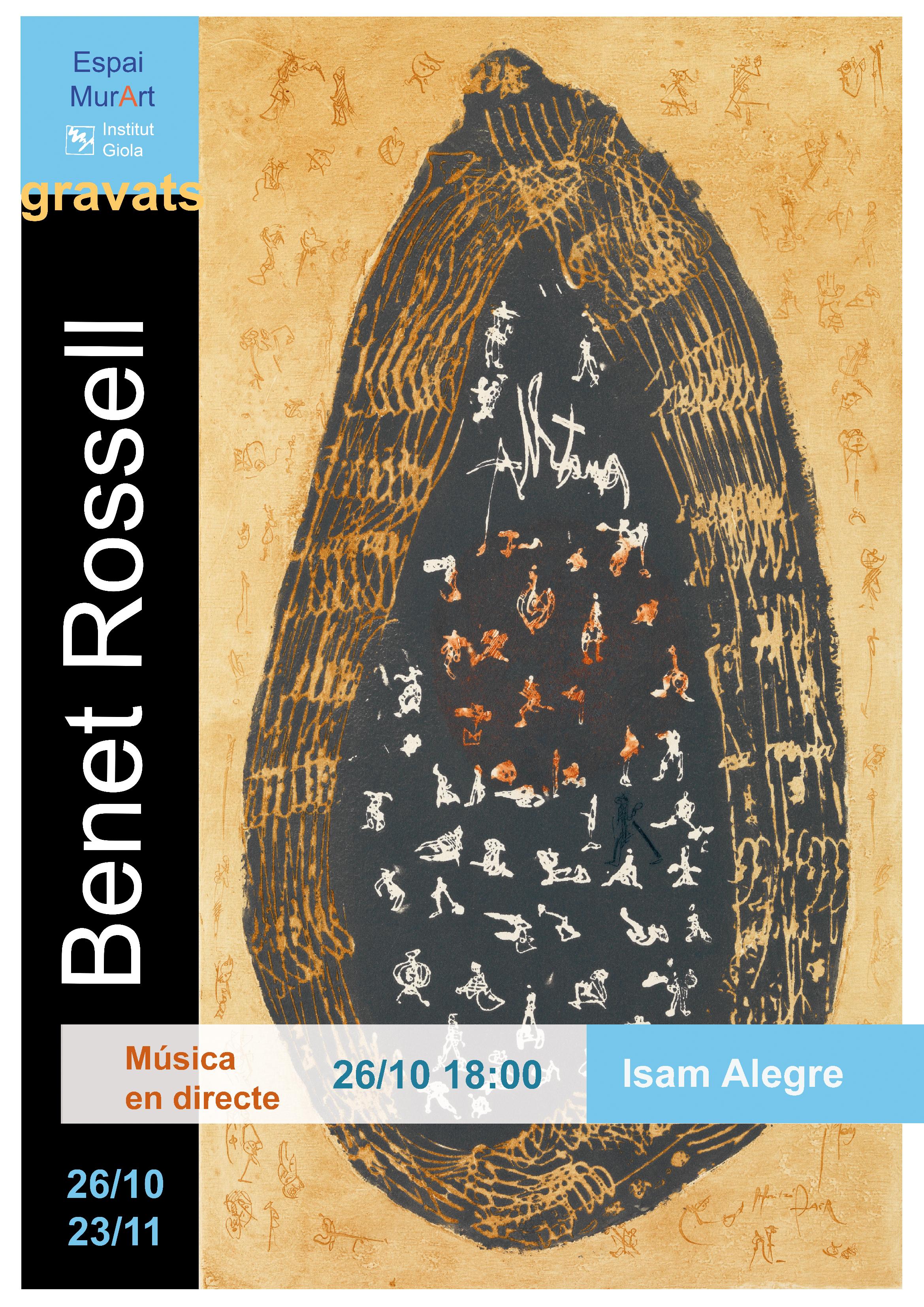 Exposició de Benet Rossell al MurArt de l'institut Giola
