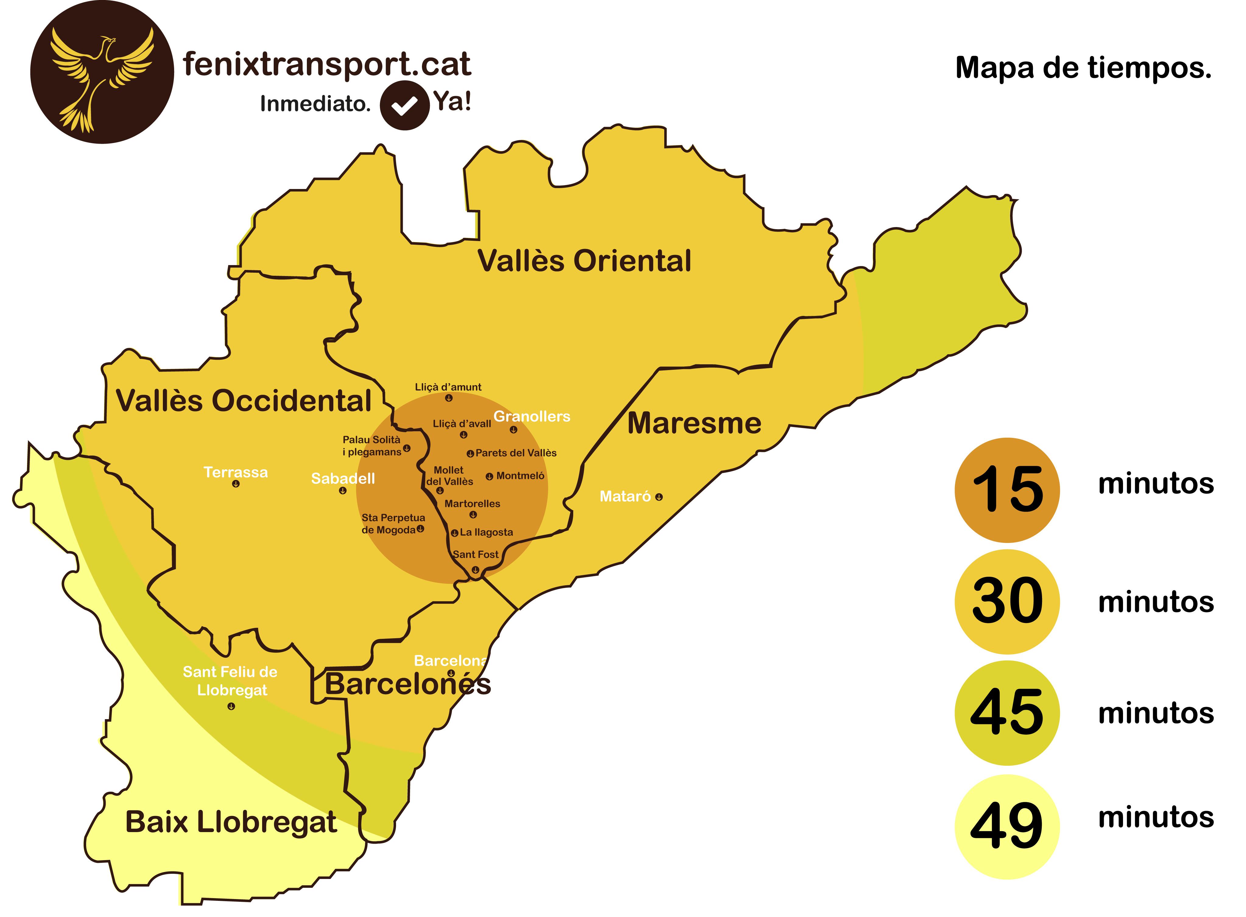 Mapa d'actuació